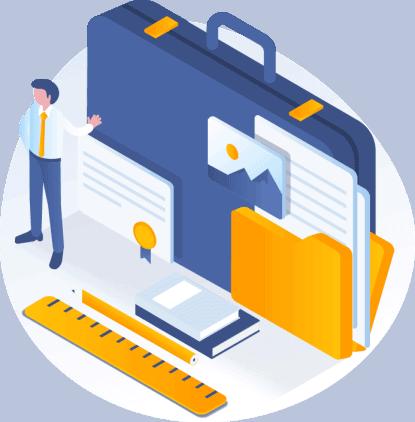 הכנת תיק עם יעדים לקידום עסקים