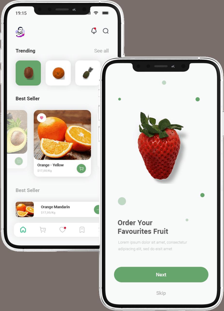 פיתוח אפליקציה לחנות פירות וירקות
